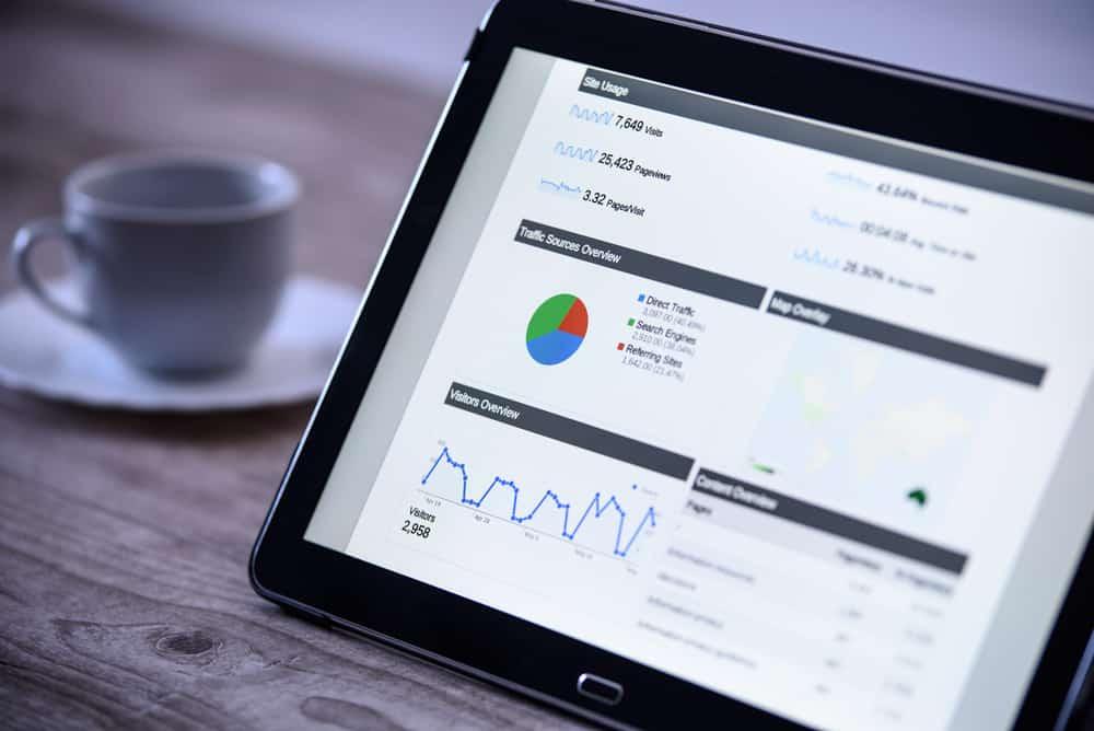 google analytics op tablet